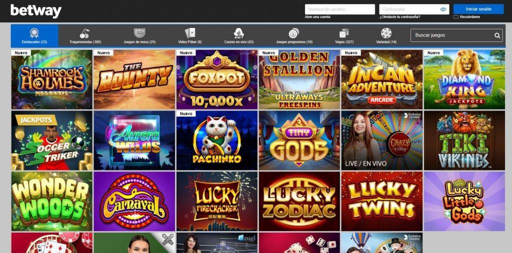 Juegos de casino de Betway