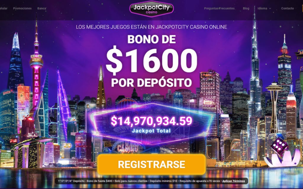 JackpotCity bonos