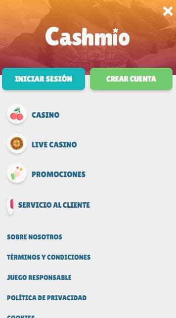 Aplicacion movil de Cashmio