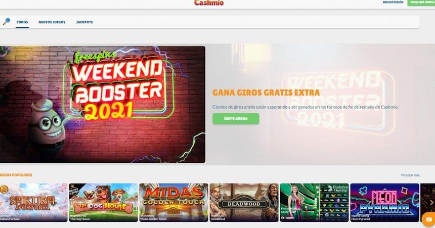 Juegos de casino de Cashmio