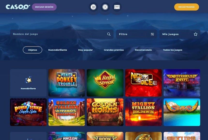 Juegos de casino de Casoo