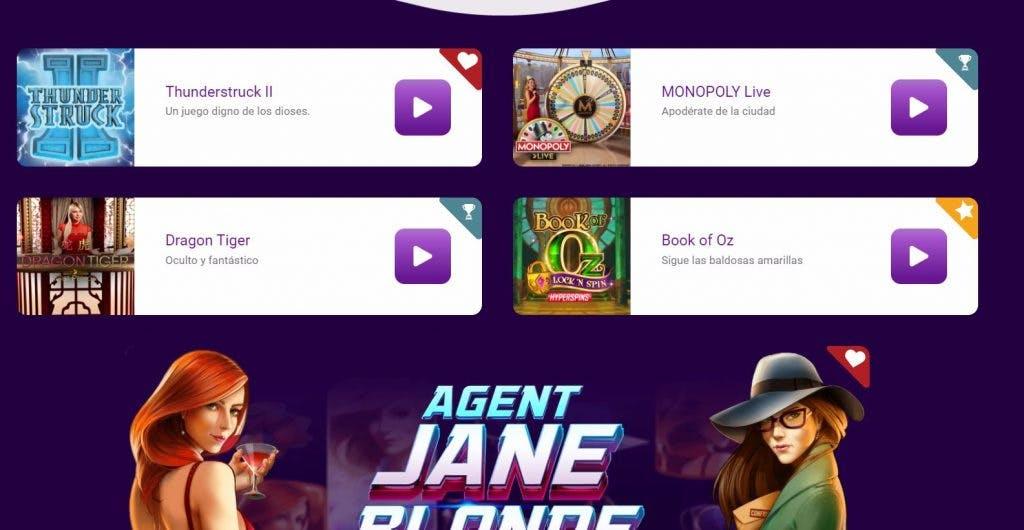 Juegos de casino de JackpotCity