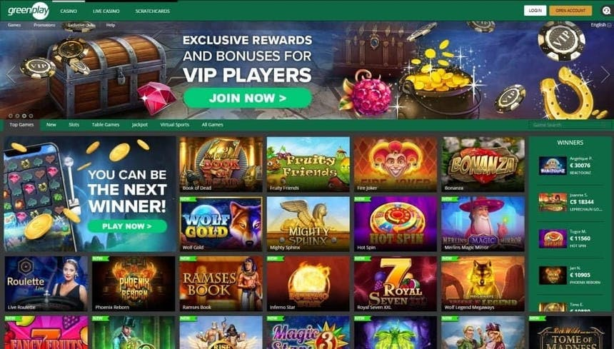Juegos de casino de Greenplay