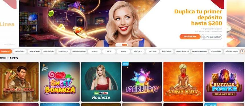 Juegos de casino de Netbet