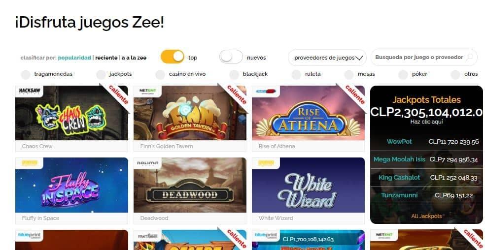 Juegos de casino de Playzee