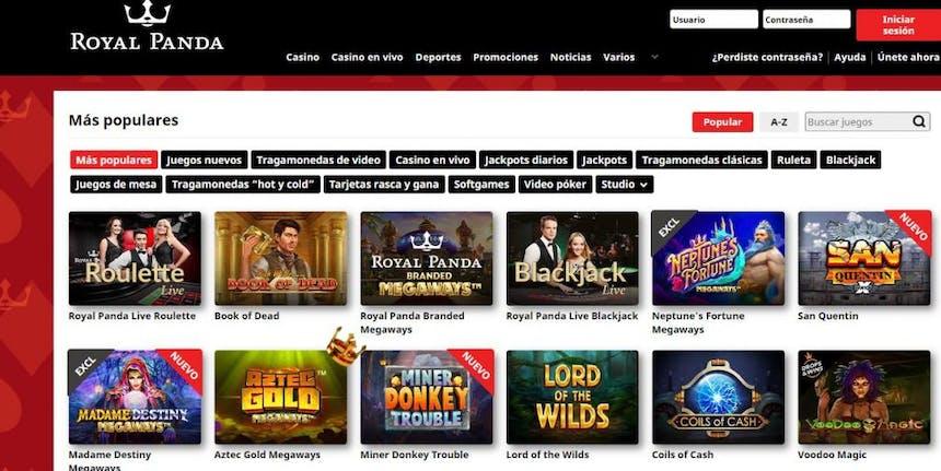 Juegos de casino de Royalpanda