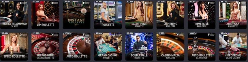 Ruleta en Coolbet casino