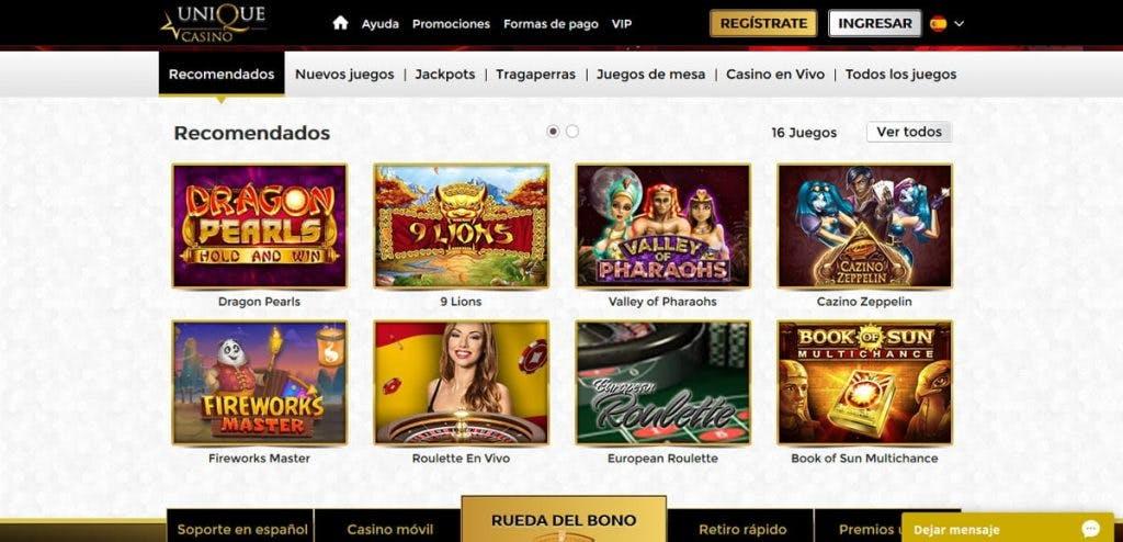 Juegos de casino de UniqueCasino
