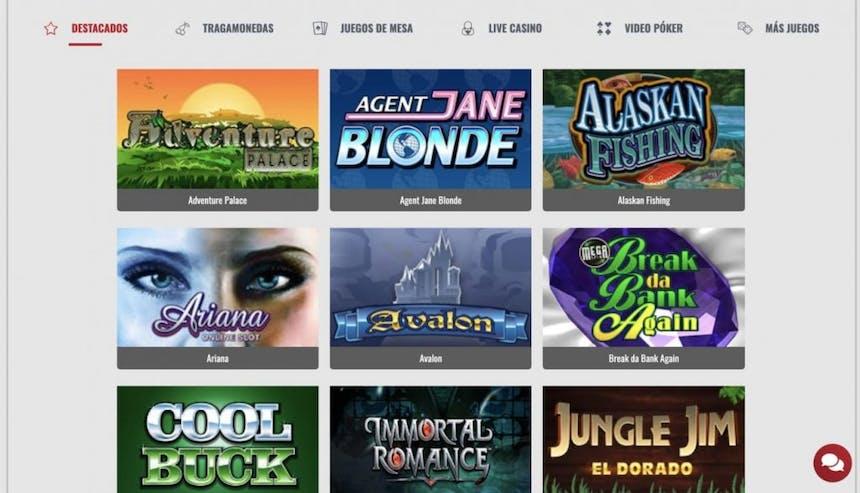 Juegos de casino de PlatinumPlay