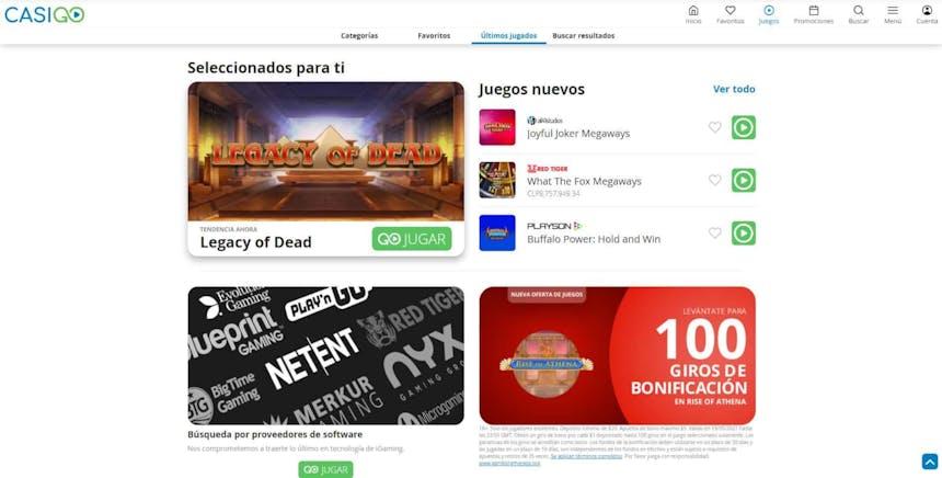juegos de slot online en CasiGO