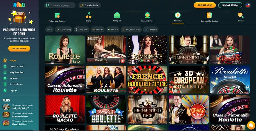 Ruleta en Roku Casino