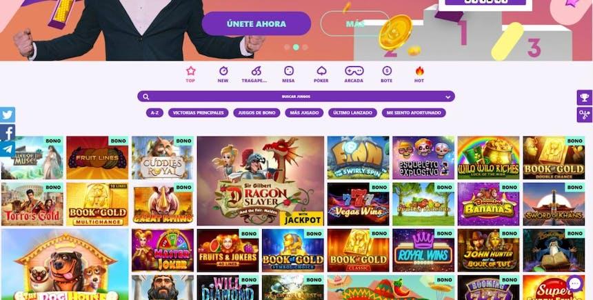 Juegos de casino de Spin Pug