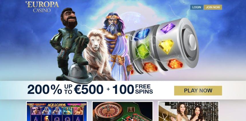 Bono bienvenida de Europa Casino