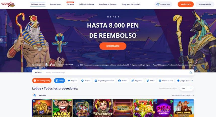 Juegos de casino de VulkanVegas