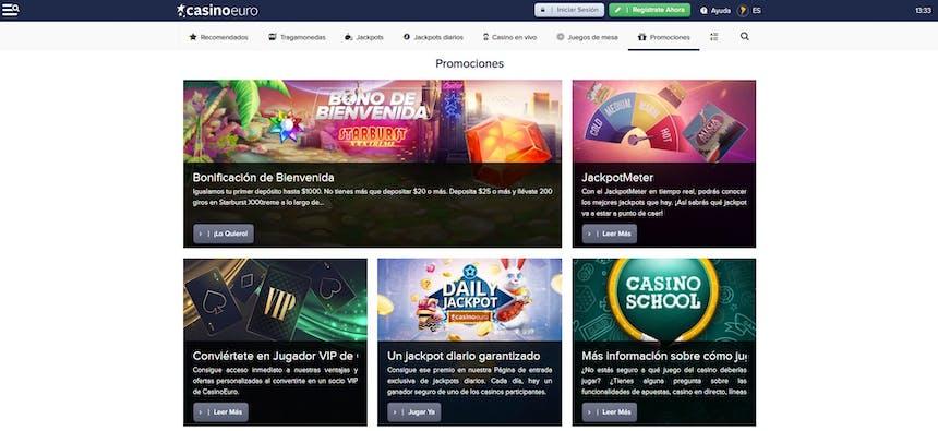 CasinoEuro bonos