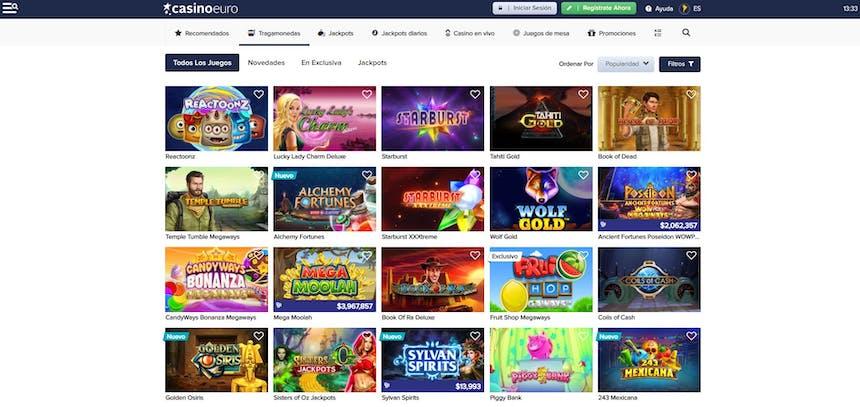 Juegos de casino de CasinoEuro